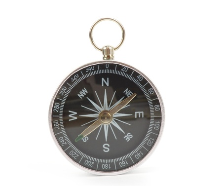Compass isolated on the white Stock Photo - 11065361
