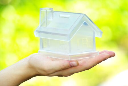 The house in human hand Stock Photo - 11065341