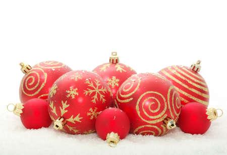 Christmas decoration over white background photo