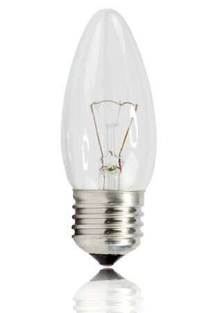 Electric bulb  on a white background photo