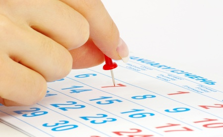 Red circle on a calendar concept for an important day Stock Photo - 11142849