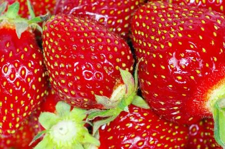 mellow: macro of a strawberry texture Stock Photo