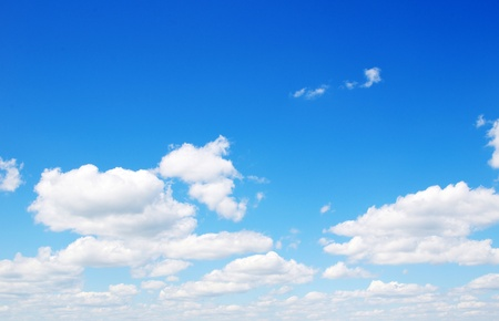 Blue sky background with tiny clouds Stock Photo - 11239631