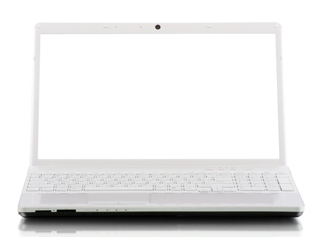 laptop isolated on white background photo