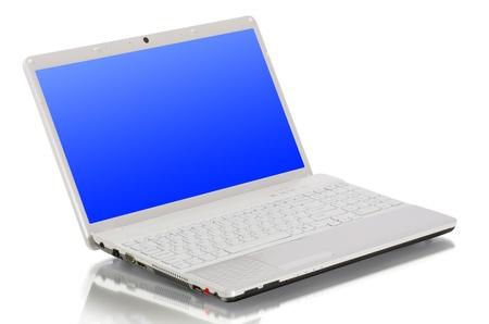 laptop isolated on white background photo