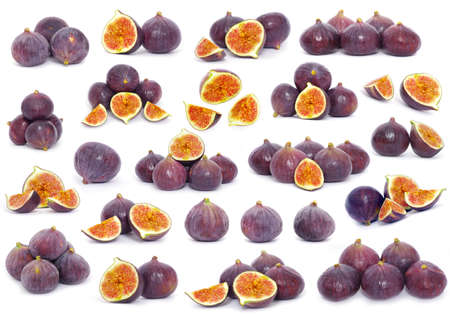 Fresh figs isolated on white photo