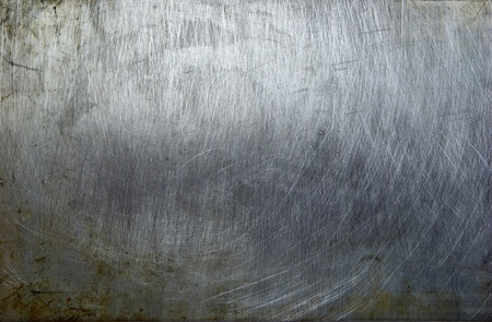 brushed metal: old grunge metal plate steel background