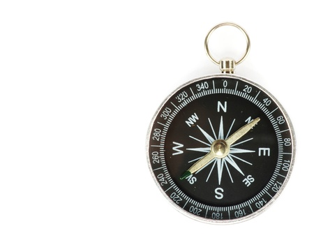 Compass isolated on the white photo