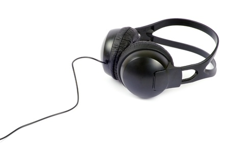 headphones isolated on a white photo