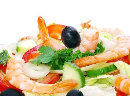 close-up of  fresh salad photo
