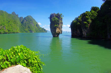 james bond island in thailand, ko tapu photo