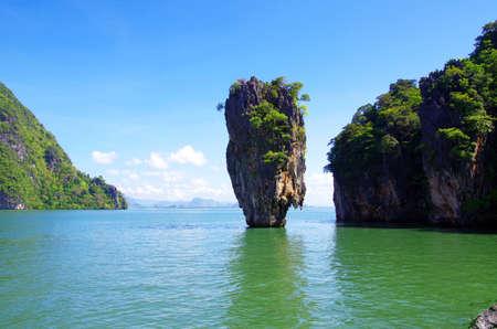 james bond island in thailand, ko tapu photo