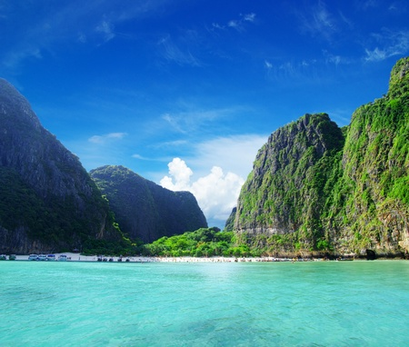 Maya bay Phi phi leh island Thailand photo