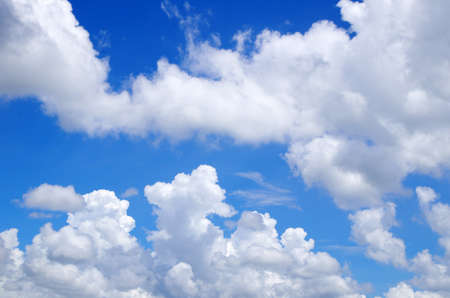 sky with clouds: blue sky with clouds and sun