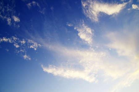blue sky background with tiny clouds Stock Photo - 12982697