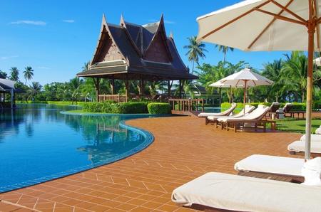 villas: swimming pool in hotel  Thailand