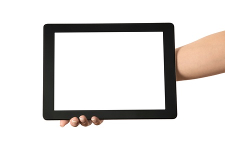tablet computer in a hand photo
