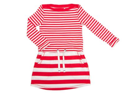 summer clothes: dress for girl on white background