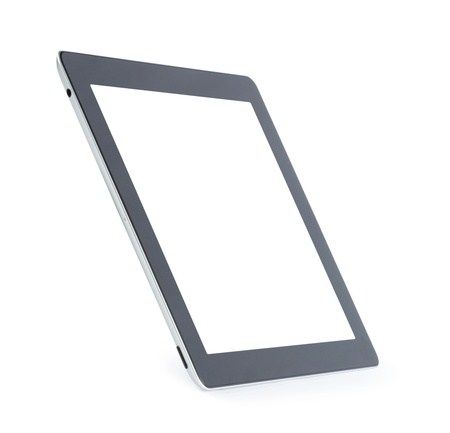 electronic devices: Touch screen tablet computer with blank screen Isolated on white Stock Photo