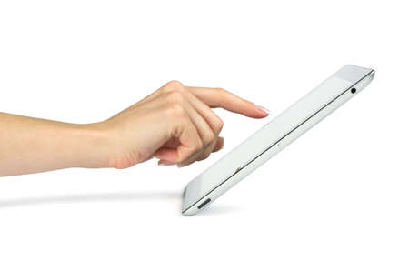 tablet computer in a hands  photo