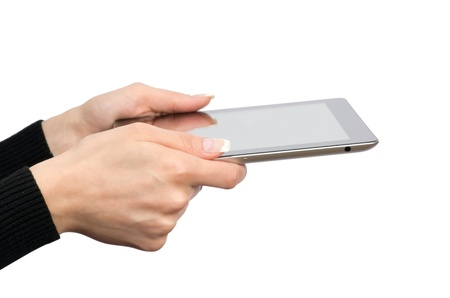 tablet computer in a hands  Stock Photo - 13127257