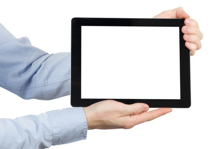 tablet computer. Isolated over white background. photo