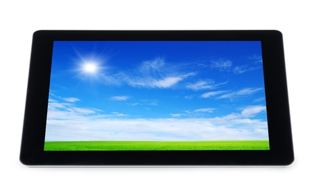 tablet computer isolated on white Stock Photo - 13321018