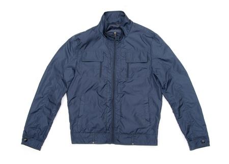 blue jacket isolated on white photo
