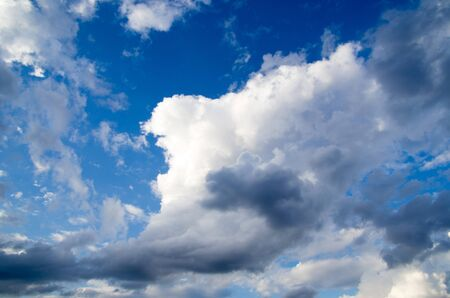 dispel: Blue sky background with a tiny clouds     Stock Photo