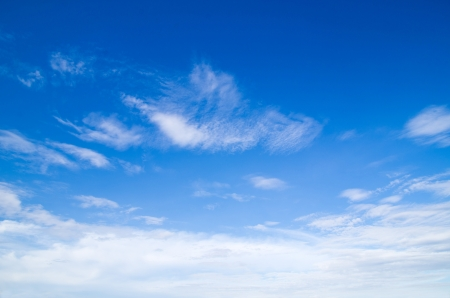 blue sky: clouds in the blue sky
