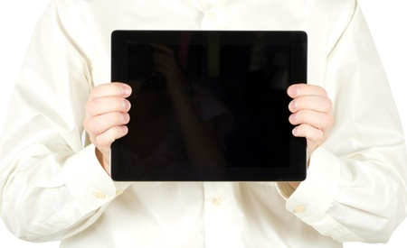 hands holding the tablet computer Stock Photo - 13621568