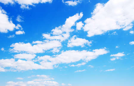 White clouds in blue sky Stock Photo - 13621596