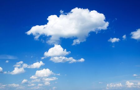 blue sky background with a tiny clouds Stock Photo - 13838723