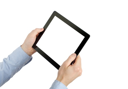 tablet computer. Isolated over white background. Stock Photo - 13960369