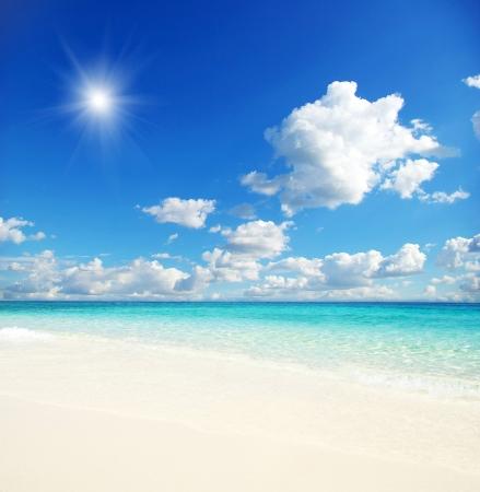 beautiful beach and tropical sea Stock Photo - 13960512
