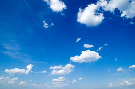 blue sky background with a tiny clouds Stock Photo - 14126351