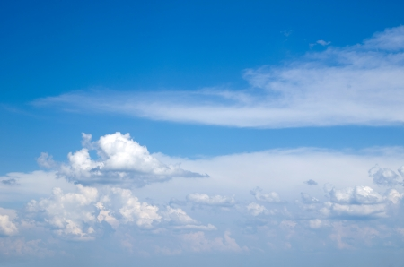 blue sky background with a tiny clouds Stock Photo - 14370481