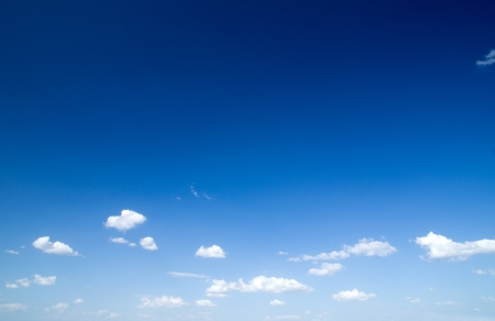 clouds background: White clouds in blue sky Stock Photo