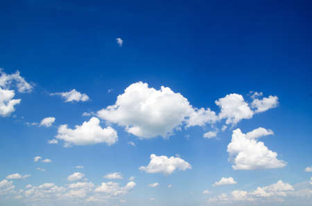 blue sky background with a tiny clouds Stock Photo - 14370644