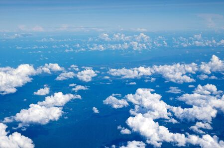 above view: Aerial sky and clouds background