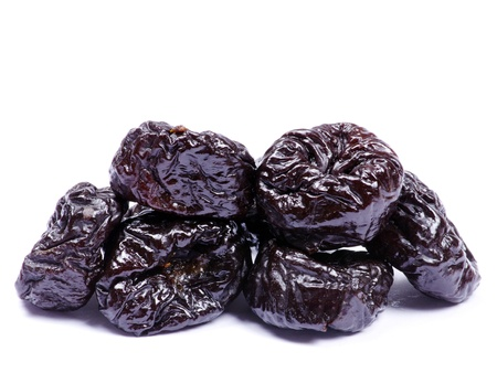 gage: Dried plum on a white background