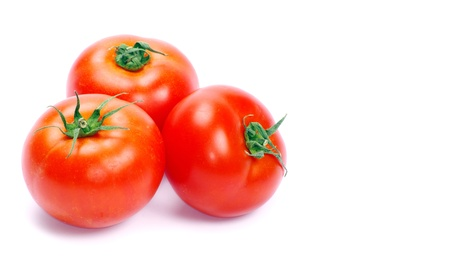 tomato isolated on white background photo