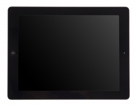tablet computer isolated on white photo