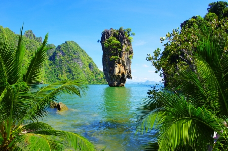 thailand view: James Bond Island, Phang Nga, Thailand