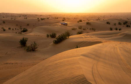 Desert landscape with sanset sky Stock Photo - 16604074