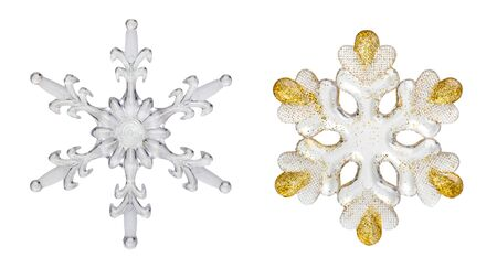 snowflakes isolated on white background photo