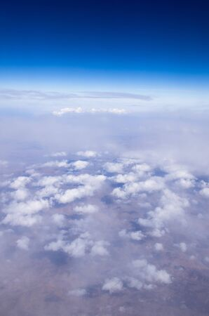 Aerial sky and clouds background photo