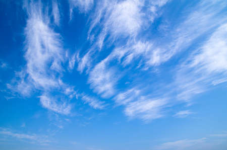 sky scape: blue sky background with tiny clouds Stock Photo