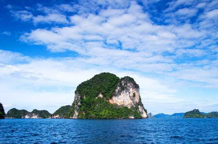 Island in the middle of the sea in Thailand photo