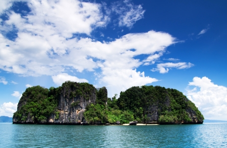 rocks and sea in Krabi Thsiland photo